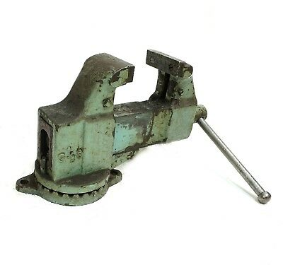 "Morgan Chicago Depth Throat No. 135 s Machinist Vise 3 1/2"" Jaw, Swivel Base"