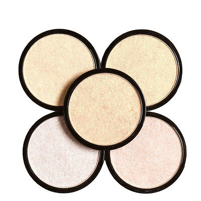Easy to Wear 5 Colors Illuminator Brightening Face Pressed Highlighter Powder