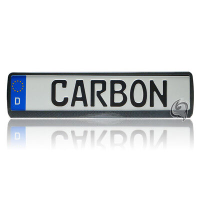Dacia 1X CARBON LOOK LICENSE PLATE HOLDER NUMBER TUNING