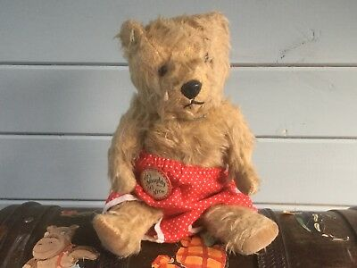 Toodles..adorable Tiny Chiltern Teddy Bear-10-All Original- Label To Side-C.1940