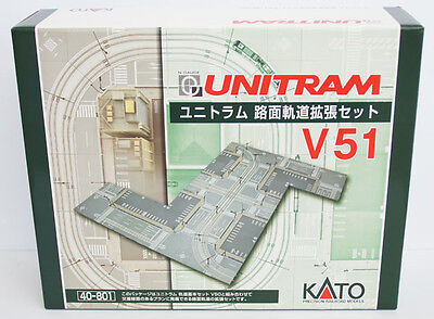 Kato 40-801 UNITRAM Expansion Crossing Track Set V51 (N scale)