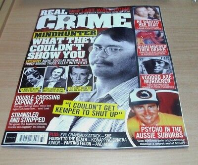 Real Crime magazine #33 2018 Mindhunter, Strangled & Stripped, Voodoo Murderer &