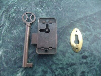 Vintage GRANDFATHER CLOCK Lock - Key & Key Hole Set England New/old Stock