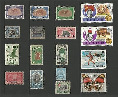 y3680 Liberia / A Small Collection Early & Modern Umm Lhm & Used