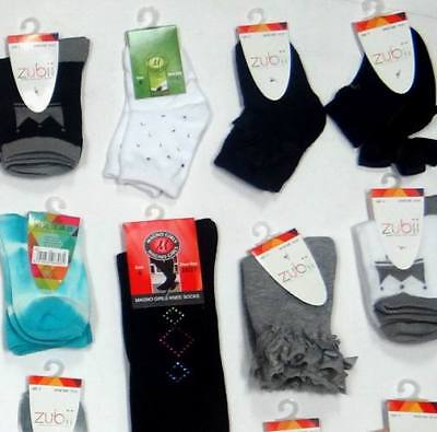 Wholesale Lot of 144 Pairs - Zubii Girls Kids Boutique Fashion Socks Asst. Sizes