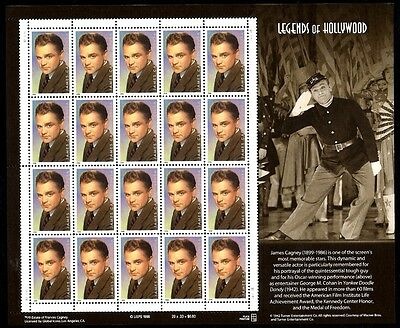 1999 - JAMES CAGNEY - #3329 Full Mint -MNH- Sheet of 20 Postage Stamps