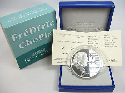 "Frankreich 2005: 1,5 Euro ""Frédéric Chopin"" Silber PP proof"