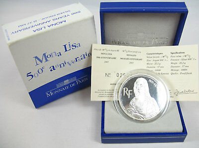 "Frankreich 2003: 1,5 Euro  ""500 Jahre Mona Lisa"" Silber PP proof"