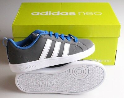 New Blue/Grey/White ADIDAS Kids Boys Neo VS Advantage K Shoes Sneakers NIB