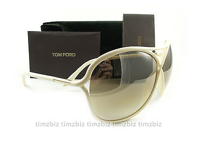 New Tom Ford Sunglasses TF184 Vicky 25G Ivory Gold FT0184/S Authentic