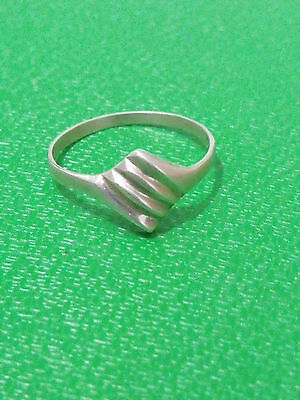 Vintage silver sterling 925 antique ring hand made art Deco style size 7 3/4