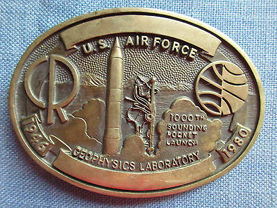 U.S. Air Force Geophysics Laboratory .. Award Design Medals Solid Brass  Buckle