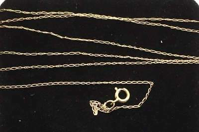 Vintage Necklace 10K SOLID GOLD VERY FINE Chain Not scrap lot