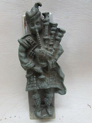 Vintage Door Knocker Scottish Bagpipes Kilt Bronze Brass Patina Finish