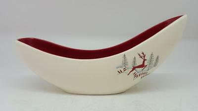 Retro 1950s Crown Devon Fieldings STOCKHOLM Leaping Stag Mid Century Bowl Vase
