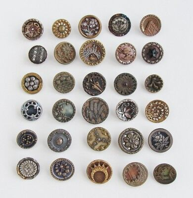 Lot of Antique Victorian Metal Buttons