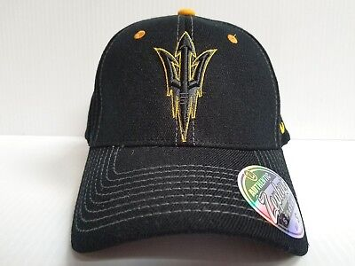 newest 11035 e036f ... where to buy arizona state sun devils cap zephyr stretch fit fitted  black element hat ncaa