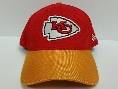 Kansas City Chiefs Cap New Era 39Thirty Stretch Fit On Field 2016 Sideline  Hat 7af862c181df