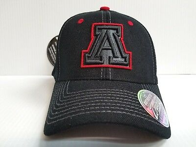 watch efa34 f4a2d Arizona Wildcats Cap Zephyr Stretch Fit Fitted Black Element Hat NCAA
