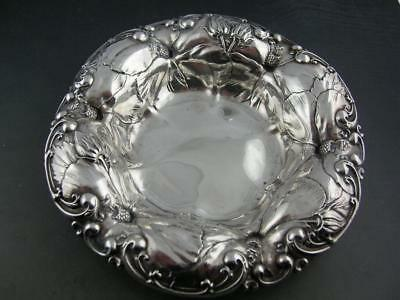 Sterling WHITING Bowl ART NOUVEAU Hibiscus floral ornate