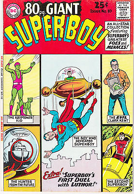 80 Pg Giant #10 Dc 1965 ''superboy'' 1St Duel With Luthor ..fn+