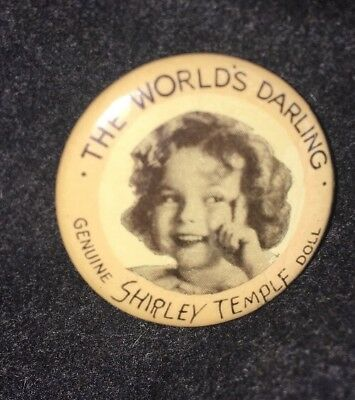 Ideal 1930's Shirley Temple Doll Original Pin