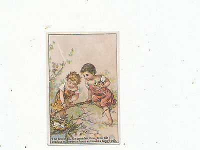 C7557    VICTORIAN TRADE CARD  james pyles pearline  SOAP HUSBAND  WIFE POEM
