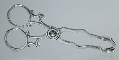 Antique STERLING/COIN SILVER GEORGIAN STYLE SUGAR NIPS**SCISSOR TYPE TONGS