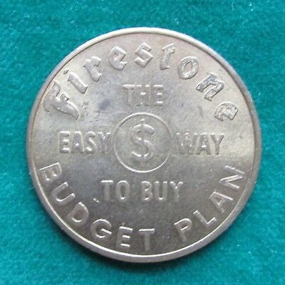 Vintage FIRESTONE tires trade token Good for $1.00 in Trade - Davenport IOWA