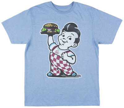Bobs Big Boy Burger Regular Fit Short Sleeve Vintage T-Shirt Retro Tee Mens Blue