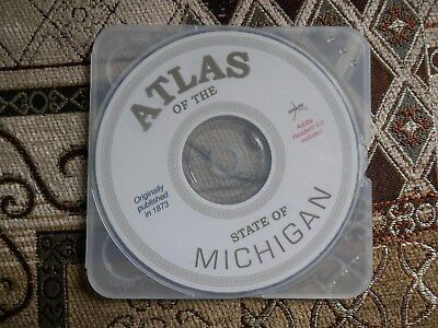 1873 Atlas Of The State Of Michigan Cd