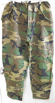 U.S. Woodland Camo Gore-Tex CW Pants in Extra Large Long-Used