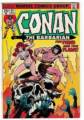 CONAN THE BARBARIAN #44 (VF) RED SONJA Cover Story Appearance! Neal Adams Inks
