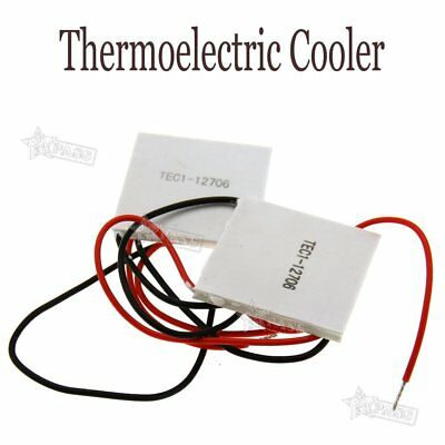 2x 12V 6A 60W Heatsink Semiconductor Thermoelectric Cooler Peltier Cooling Plate
