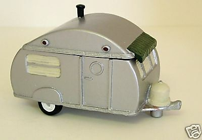 """RV TRAVEL TRAILER Teardrop Camper Box Retro Covered Container w/ Lid 5"""" 1995 NOS"""