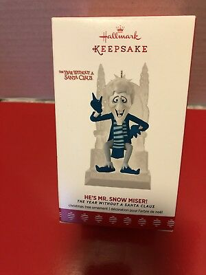2017 Hallmark Ornament  ~ HE'S MR. SNOW MISER! ~  THE YEAR WITHOUT A SANTA CLAUS