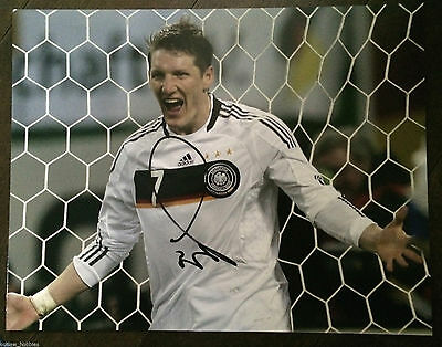 Germany World Cup Bastian Schweinsteiger Signed Autographed 11x14 Photo COA