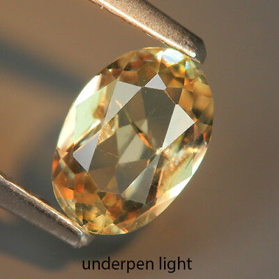 Lovely 0.74 Ct Natural Greenish Yellow DIASPORE Oval Gemstone @ See Video !!
