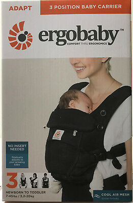 Ergobaby Adapt 3 Position Infant Child Baby Carrier Cool Air Mesh Onyx Black NEW