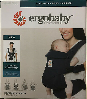 Ergobaby Omni 360 4 Position Infant Child Baby Carrier Midnight Blue AUTHENTIC