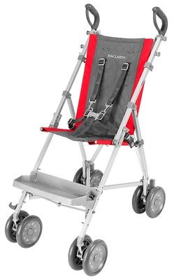 Maclaren Major Elite Special Needs Transport Push Chair Stroller Red Charcoal