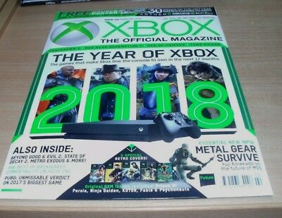 Official XBOX magazine UK FEB 2018 Crackdown 3 Red Dead Redemption 2 Tomb Raider