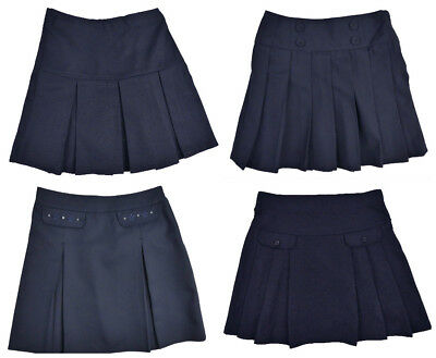 Girls Navy Blue School Skirts Ages 3 Years up 10 Years Varoius Styles Top Makes