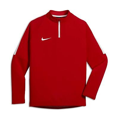Nike Kinder Fussball Trainings Sweatshirt Dry Drill Top Academy rot weiß