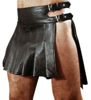 Mans GENUINE LEATHER KILT ROMAN GLADIATOR LARP MOST SIZES