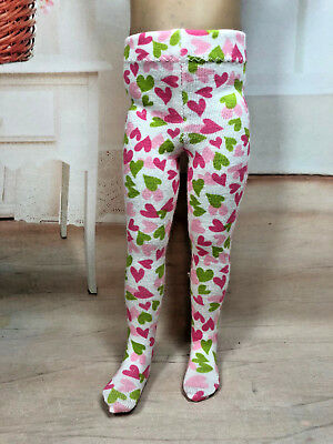 """Another pair of Adorable VALENTINE tights for 13"""" Effner Little Darling doll"""