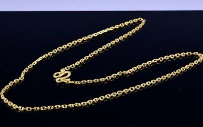 Rare Antique Chinese 22K Yellow Gold Hand Made Chain Link Necklace
