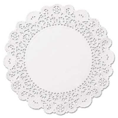 Hoffmaster Brooklace Lace Doilies Round 6 inches White 2000/Carton