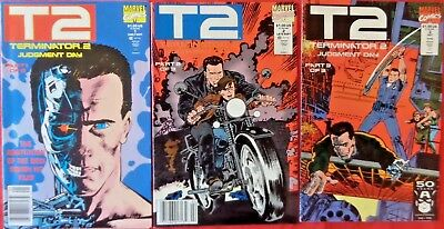 Terminator Ii  Complete Set 1-3  Movie Adaptation  Marvel  1991  Nice!!