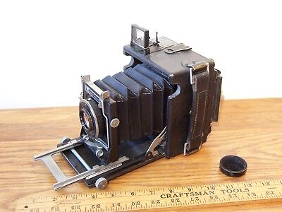 vintage BABY SPEED GRAPHIC 2X3 2 1/4 X 3 1/4 FILM CAMERA TESSAR F 4.5 LENS